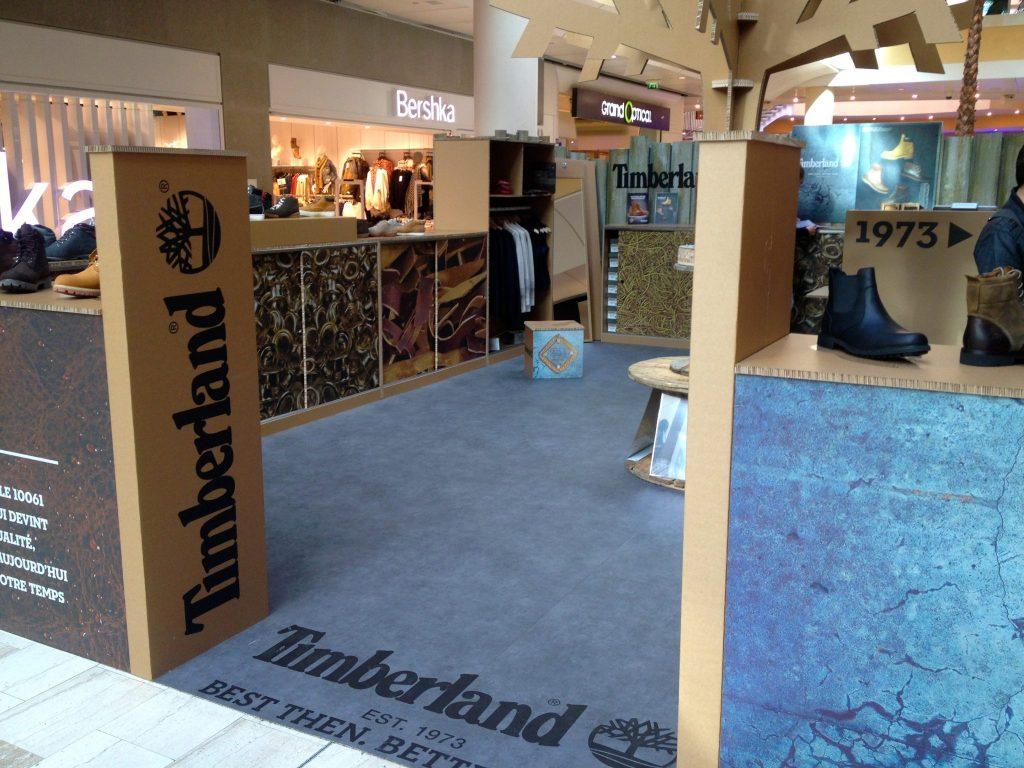 graphik retail decoration event reboard nancy pop up store timberland