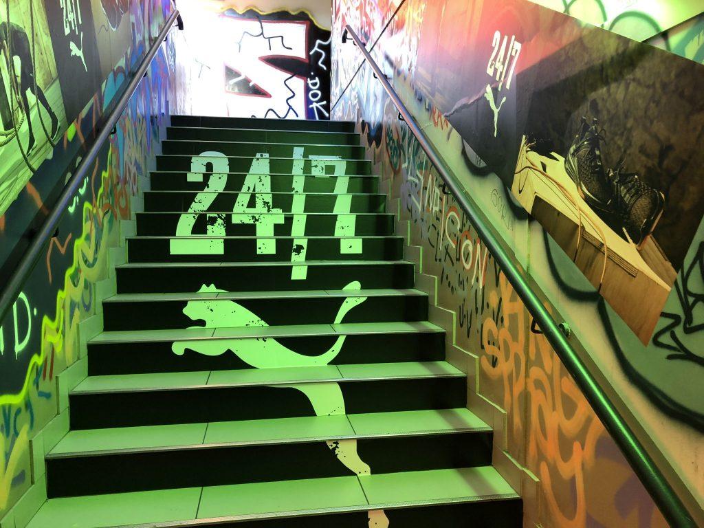 graphik retail decoration event reboard nancy puma lewis hamilton