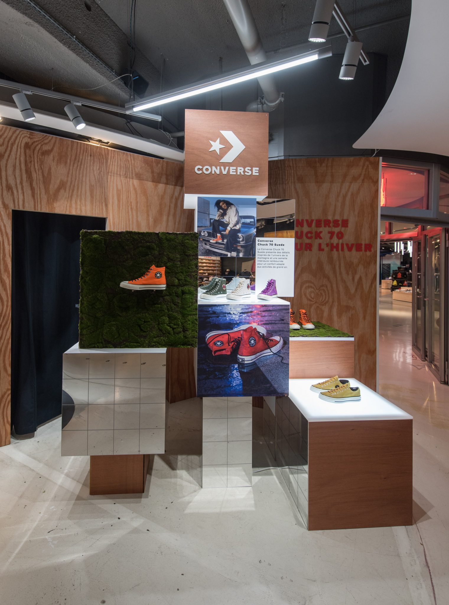 graphik retail decoration event reboard nancy converse citadium